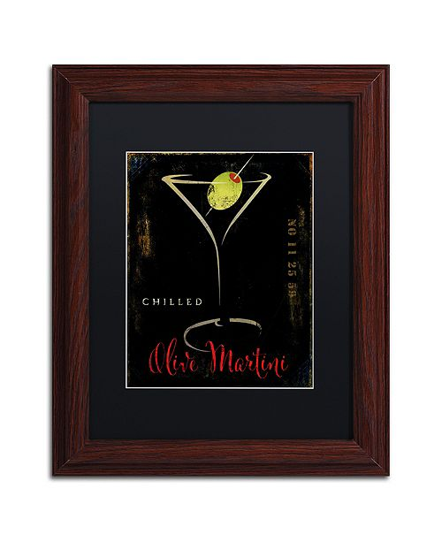 "Trademark Global Color Bakery 'Olive Martini Ii' Matted Framed Art, 11"" x 14"""