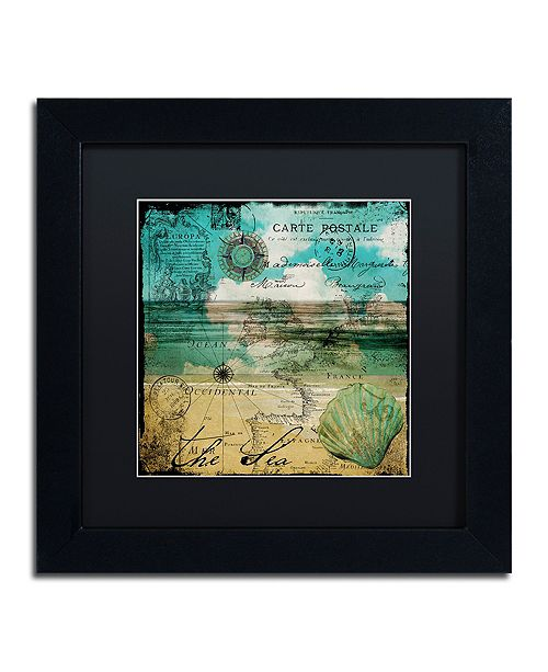 "Trademark Global Color Bakery 'Ocean Clouds Ii' Matted Framed Art, 11"" x 11"""