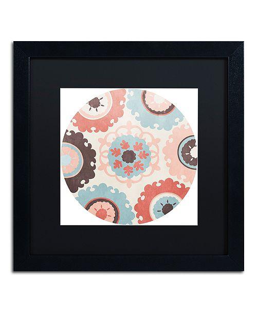 "Trademark Global Color Bakery 'Umbrella Skies I' Matted Framed Art, 16"" x 16"""