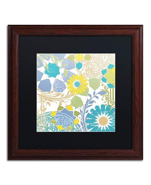 "Trademark Global Color Bakery 'Esperanza I' Matted Framed Art, 16"" x 16"""