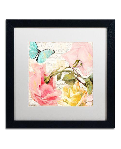 """Trademark Global Color Bakery 'Florabella I' Matted Framed Art, 16"""" x 16"""""""