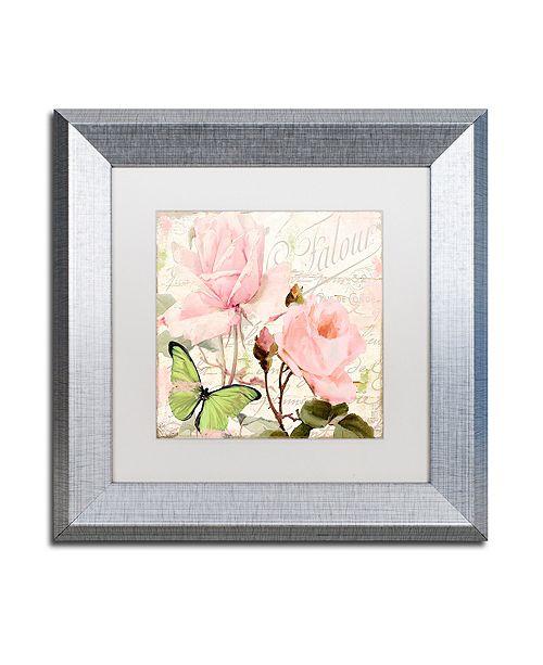 "Trademark Global Color Bakery 'Florabella Iii' Matted Framed Art, 11"" x 11"""