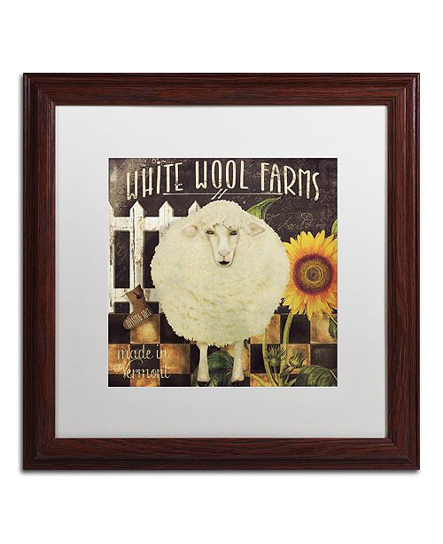 """Trademark Global Color Bakery 'Vermont Farms Iv' Matted Framed Art, 16"""" x 16"""""""
