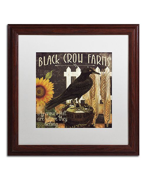 "Trademark Global Color Bakery 'Vermont Farms X' Matted Framed Art, 16"" x 16"""