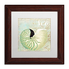 Color Bakery 'Turquoise Beach I' Matted Framed Art