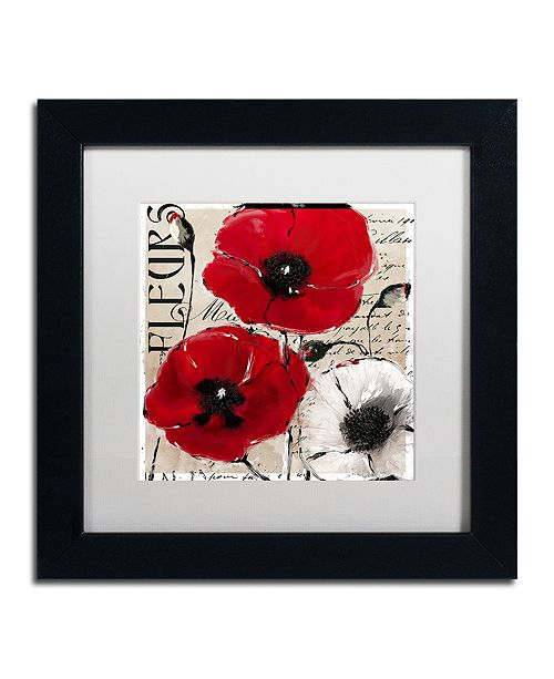 """Trademark Global Color Bakery 'Rouge One' Matted Framed Art, 11"""" x 11"""""""