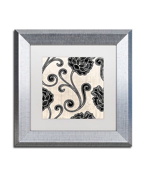 "Trademark Global Color Bakery 'Stylesque I' Matted Framed Art, 11"" x 11"""