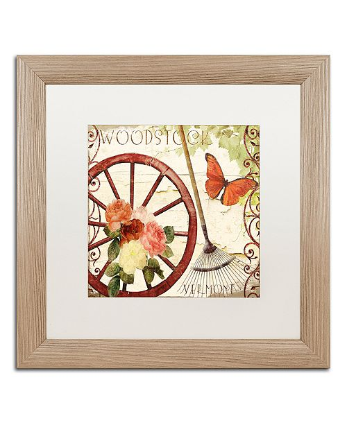 "Trademark Global Color Bakery 'Vermont Summer I' Matted Framed Art, 16"" x 16"""