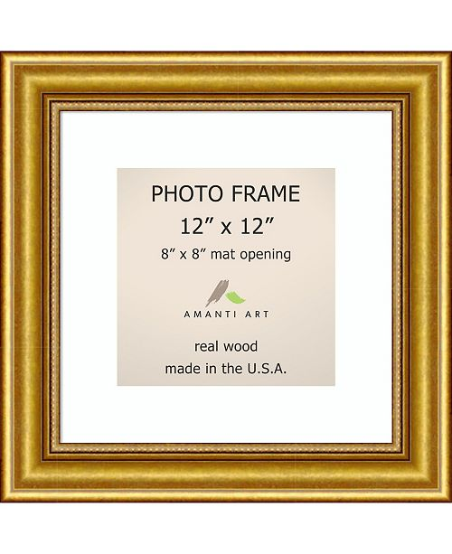 Amanti Art Townhouse Gold 12 X 12 Matted To 8 X 8 Opening Wall