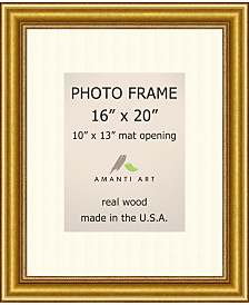 """Amanti Art Townhouse Gold 16"""" X 20"""" Matted to 10"""" X 13"""" Opening Wall Picture Photo Frame"""