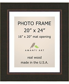 """Amanti Art Milano Bronze 20"""" X 24"""" Matted to 16"""" X 20"""" Opening Wall Picture Photo Frame"""