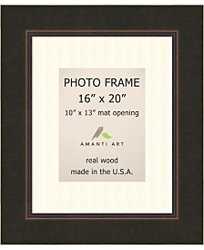 """Amanti Art Milano Bronze 16"""" X 20"""" Matted to 10"""" X 13"""" Opening Wall Picture Photo Frame"""