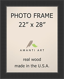 "Amanti Art Corvino Black 22"" X 28"" Opening Wall Picture Photo Frame"