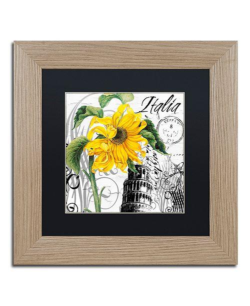 """Trademark Global Color Bakery 'Italia I' Matted Framed Art, 11"""" x 11"""""""