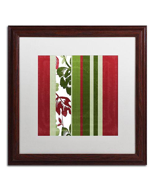 """Trademark Global Color Bakery 'Woodlands Christmas Iv' Matted Framed Art, 16"""" x 16"""""""