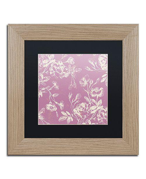 "Trademark Global Color Bakery 'Petals Of Paris Vi' Matted Framed Art, 11"" x 11"""