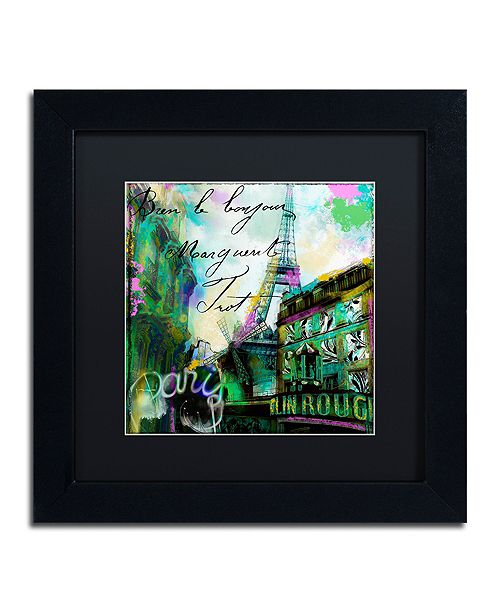 """Trademark Global Color Bakery 'To Paris With Love Ii' Matted Framed Art, 11"""" x 11"""""""