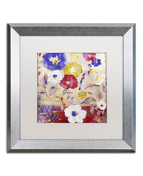 "Trademark Global Color Bakery 'Sevilla Iii' Matted Framed Art, 16"" x 16"""