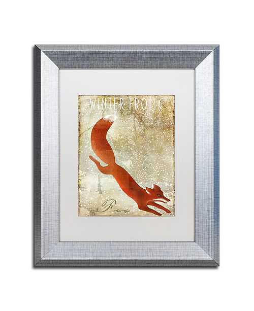 """Trademark Global Color Bakery 'Winter Game One' Matted Framed Art, 11"""" x 14"""""""