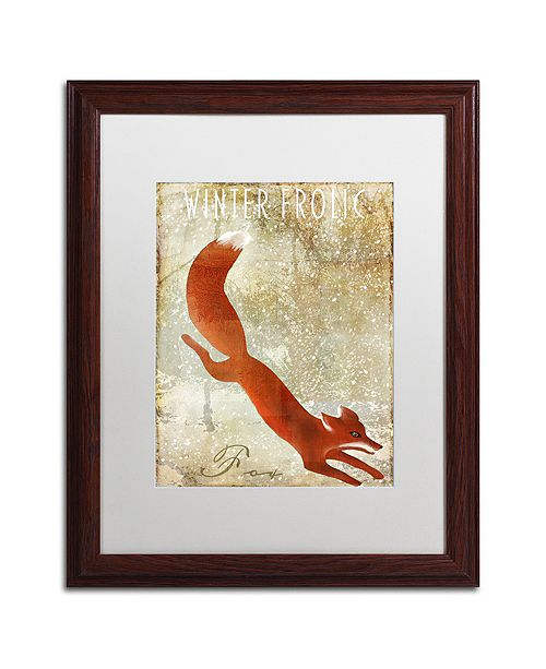 """Trademark Global Color Bakery 'Winter Game One' Matted Framed Art, 16"""" x 20"""""""