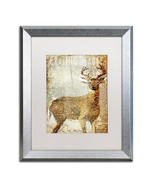 "Trademark Global Color Bakery 'Winter Game Two' Matted Framed Art, 16"" x 20"""