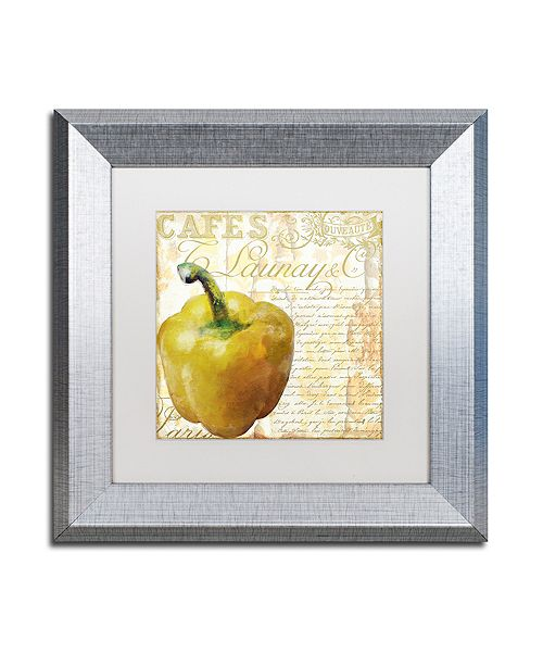"Trademark Global Color Bakery 'Cafe D?Or Vii' Matted Framed Art, 11"" x 11"""