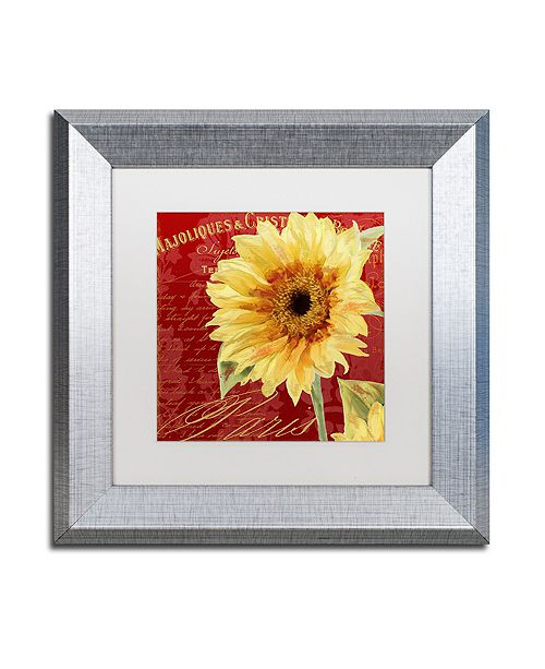 "Trademark Global Color Bakery 'Ete Iii' Matted Framed Art, 11"" x 11"""