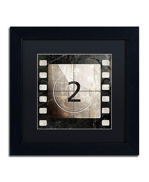 "Trademark Global Color Bakery 'Vintage Countdown Ii' Matted Framed Art, 11"" x 11"""