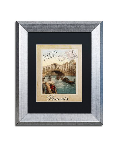 "Trademark Global Color Bakery 'European Vacation I' Matted Framed Art, 11"" x 14"""