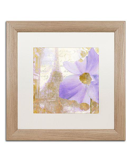 "Trademark Global Color Bakery 'Purple Paris I' Matted Framed Art, 16"" x 16"""