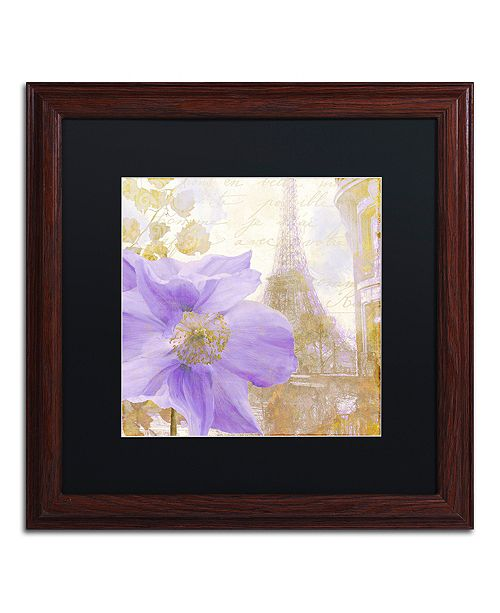 "Trademark Global Color Bakery 'Purple Paris Ii' Matted Framed Art, 16"" x 16"""