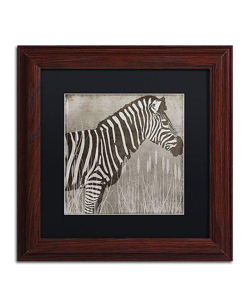 """Trademark Global Color Bakery 'Zebra' Matted Framed Art, 11"""" x 11"""""""