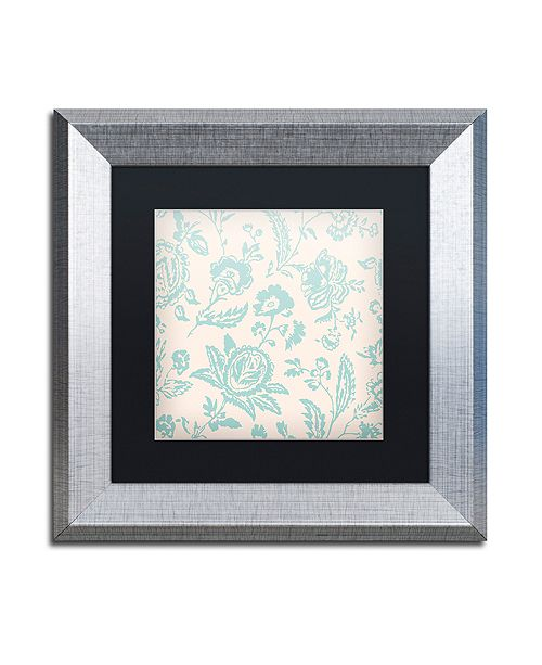 """Trademark Global Color Bakery 'Toile Fabrics Xi' Matted Framed Art, 11"""" x 11"""""""