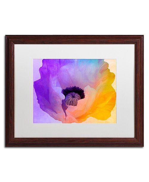 "Trademark Global Color Bakery 'Poppy Gradient Iii' Matted Framed Art, 16"" x 20"""