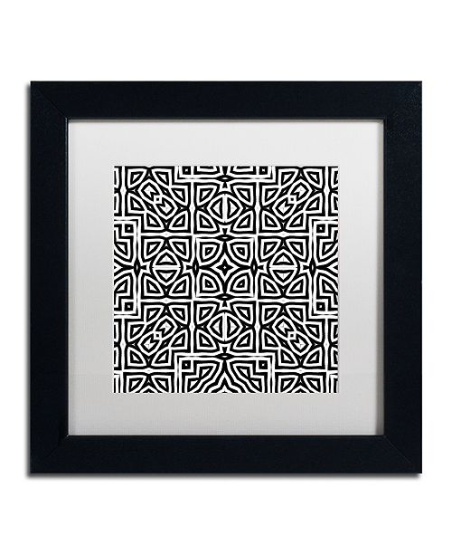 "Trademark Global Color Bakery 'Alhambra' Matted Framed Art, 11"" x 11"""