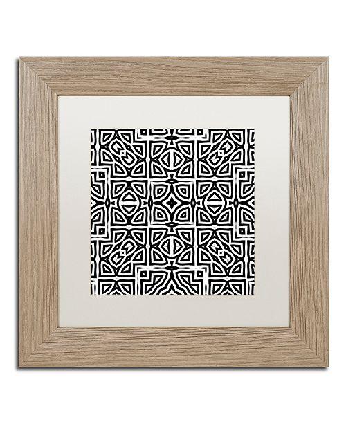 "Trademark Global Color Bakery 'Alhambra' Matted Framed Art, 11"" x 11"""