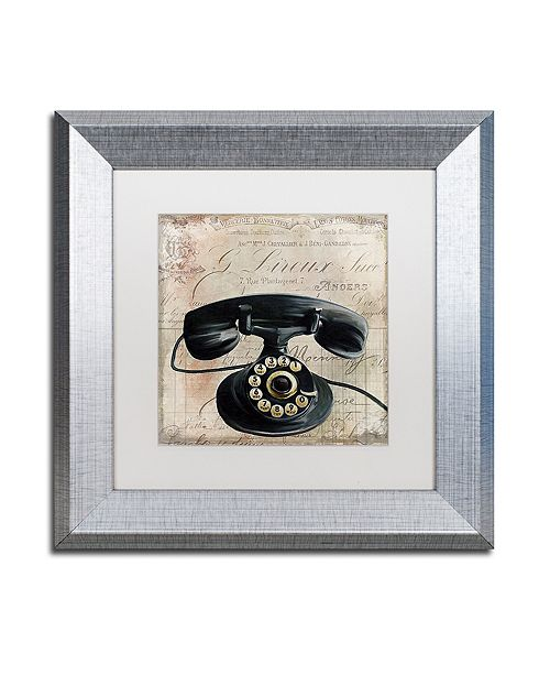"Trademark Global Color Bakery 'Call Waiting Ii' Matted Framed Art, 11"" x 11"""
