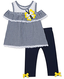 Rare Editions Baby Girls 2-Pc. Gingham Seersucker Tunic & Leggings Set