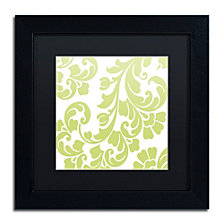 Color Bakery 'Calyx Damask' Matted Framed Art