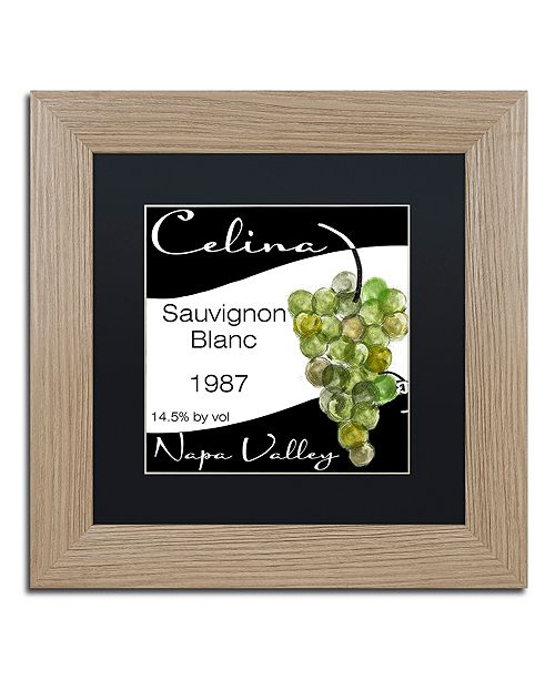 """Trademark Global Color Bakery 'Wine Valley One' Matted Framed Art, 11"""" x 11"""""""