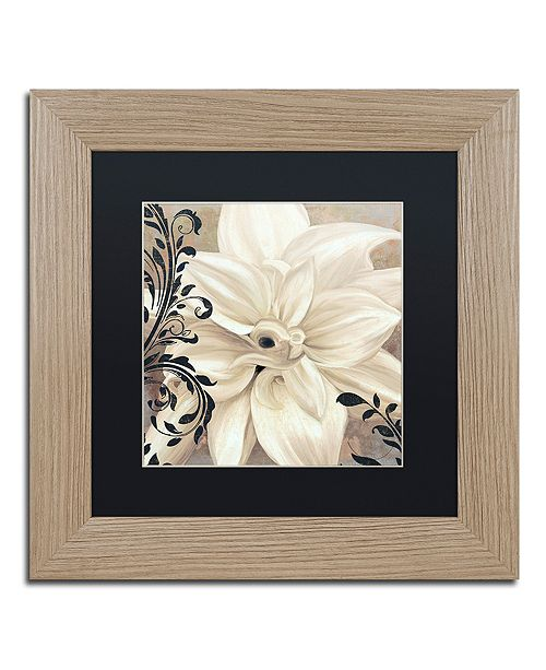 "Trademark Global Color Bakery 'Winter White Ii' Matted Framed Art, 11"" x 11"""