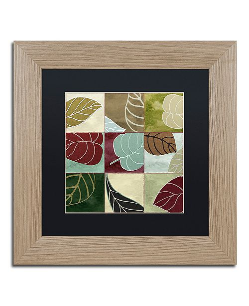 "Trademark Global Color Bakery 'Leaf Story Iii' Matted Framed Art, 11"" x 11"""