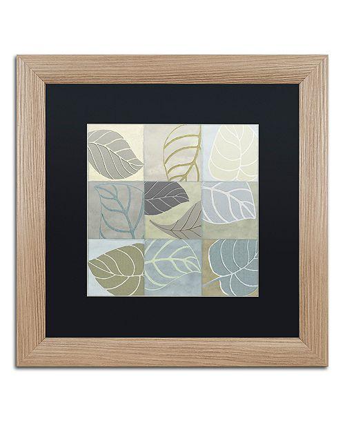 """Trademark Global Color Bakery 'Leaf Story Iv' Matted Framed Art, 16"""" x 16"""""""