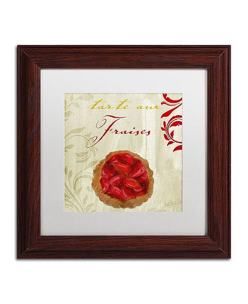 "Trademark Global Color Bakery 'Tartes Francais, Strawberry' Matted Framed Art, 11"" x 11"""