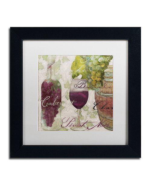 "Trademark Global Color Bakery 'Wine Cellar I' Matted Framed Art, 11"" x 11"""
