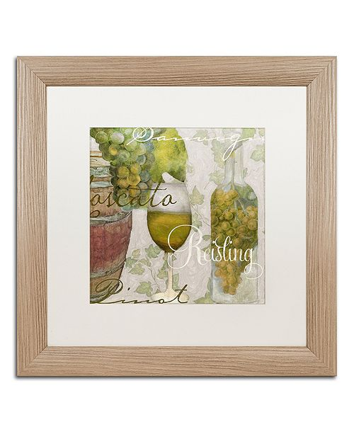 "Trademark Global Color Bakery 'Wine Cellar Ii' Matted Framed Art, 16"" x 16"""