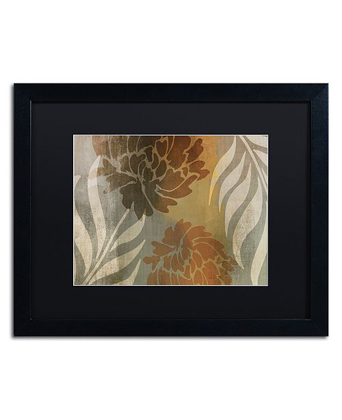 "Trademark Global Color Bakery 'Garden Waltz I' Matted Framed Art, 16"" x 20"""