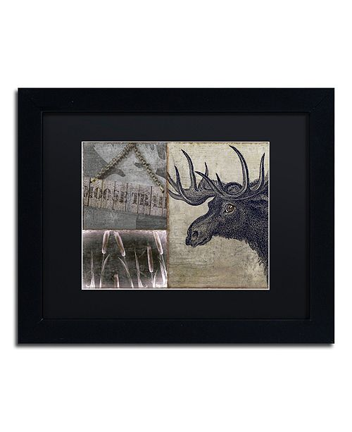 "Trademark Global Color Bakery 'Moose' Matted Framed Art, 11"" x 14"""