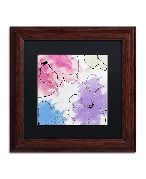 """Trademark Global Color Bakery 'Kasumi Three' Matted Framed Art, 11"""" x 11"""""""