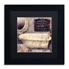 "Color Bakery 'Le Bain Paris I' Matted Framed Art, 11"" x 11"""